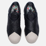Женские кроссовки adidas Originals Superstar Slip-On Core Black/Core Black/Chalk White фото- 4