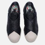 Женские кроссовки adidas Originals Superstar Slip-On Core Black/Core Black/Chalk White фото- 4