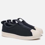 Женские кроссовки adidas Originals Superstar Slip-On Core Black/Core Black/Off White фото- 2