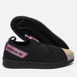 Женские кроссовки adidas Originals Superstar Slip-On Core Black/Petrol фото- 2