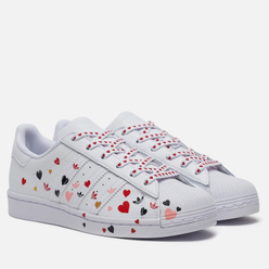 Женские кроссовки adidas Originals Superstar Valentine's Day Cloud White/Core Black/Glory Pink
