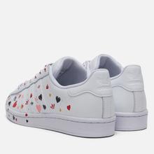 Женские кроссовки adidas Originals Superstar Valentine's Day Cloud White/Core Black/Glory Pink фото- 2