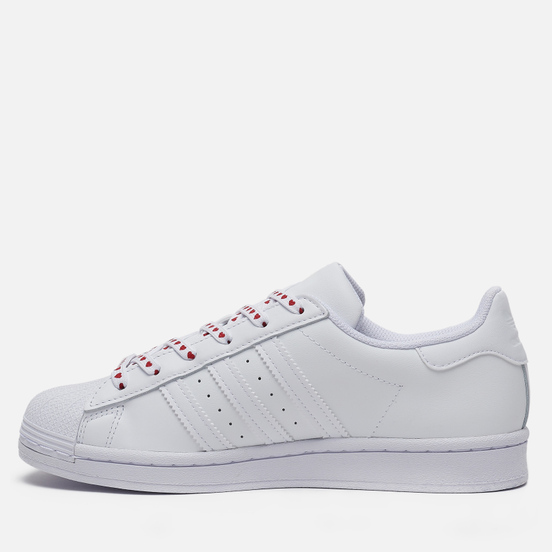 Женские кроссовки adidas Originals Superstar Valentine's Day Cloud White/Core Black/Glory Pink