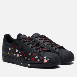 Женские кроссовки adidas Originals Superstar Valentine's Day Core Black/Cloud White/Glory Pink