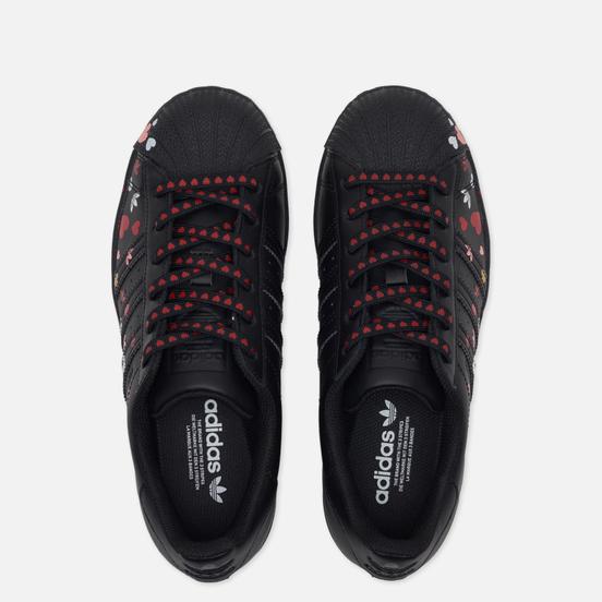 Женские кроссовки adidas Originals Superstar Valentine's Day Core Black/Cloud White/Glory Pink