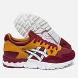 Женские кроссовки ASICS Gel-Lyte V Core Plus Pack Burgundy/White фото- 1