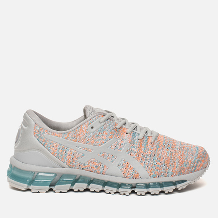 Женские кроссовки ASICS Gel-Quantum 360 Knit 2 Glacier Grey/Orange Pop/Aruba Blue
