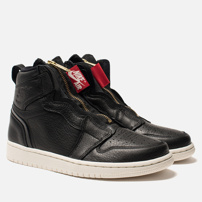 Женские кроссовки Jordan Air Jordan 1 High Zip Black/Sail/University Red