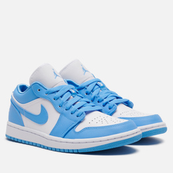Женские кроссовки Jordan Air Jordan 1 Low UNC University Blue/University Blue/White