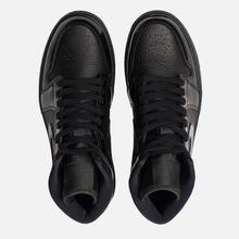 Женские кроссовки Jordan Air Jordan 1 Mid Black/Black фото- 1