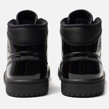 Женские кроссовки Jordan Air Jordan 1 Mid Black/Black фото- 2