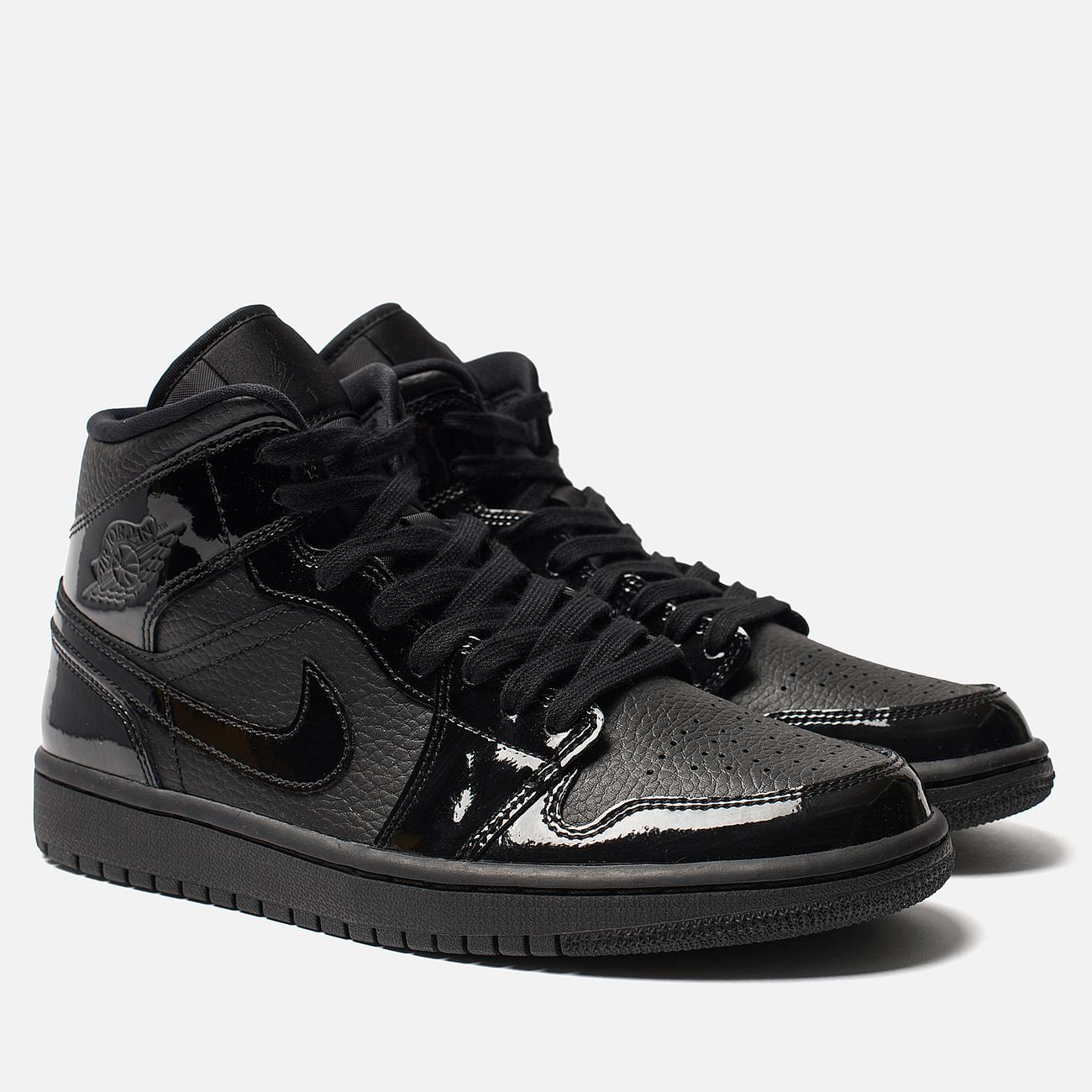 Женские кроссовки Jordan Air Jordan 1 Mid Black/Black