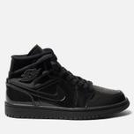 Женские кроссовки Jordan Air Jordan 1 Mid Black/Black/Black фото- 0