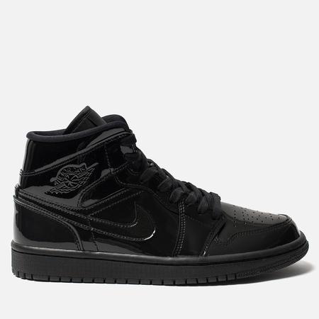 Женские кроссовки Jordan Air Jordan 1 Mid Black/Black/Black