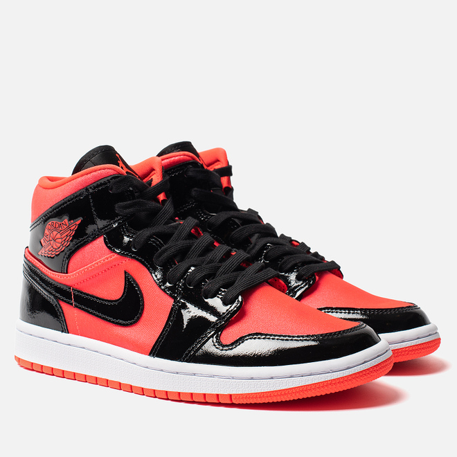 Женские кроссовки Jordan Air Jordan 1 Mid Bright Crimson/Black