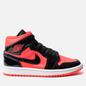 Женские кроссовки Jordan Air Jordan 1 Mid Bright Crimson/Black фото - 3