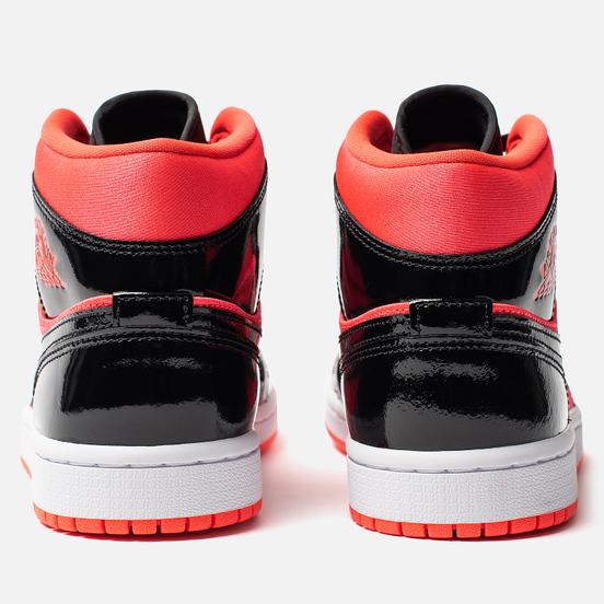 Женские кроссовки Jordan Air Jordan 1 Mid Bright Crimson/Black