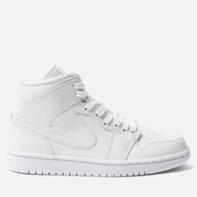 Женские кроссовки Jordan Air Jordan 1 Mid White/White фото- 3