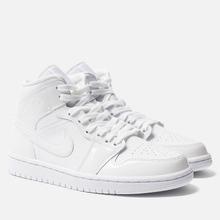 Женские кроссовки Jordan Air Jordan 1 Mid White/White фото- 0