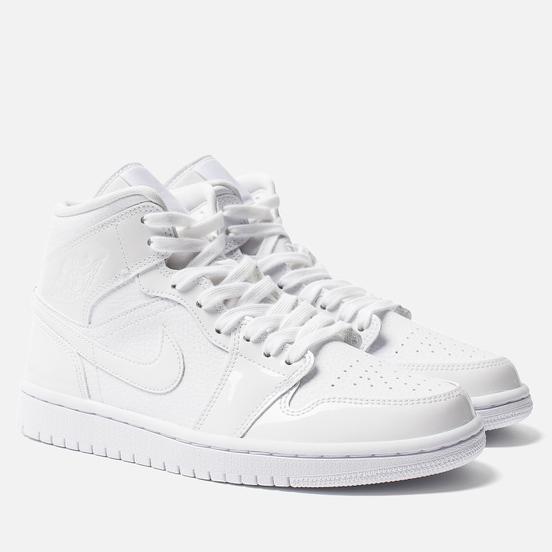 Женские кроссовки Jordan Air Jordan 1 Mid White/White