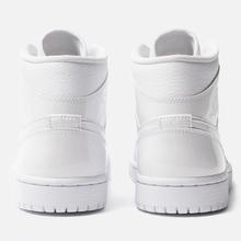 Женские кроссовки Jordan Air Jordan 1 Mid White/White фото- 2