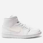 Женские кроссовки Jordan Air Jordan 1 Mid White/White/White фото- 0