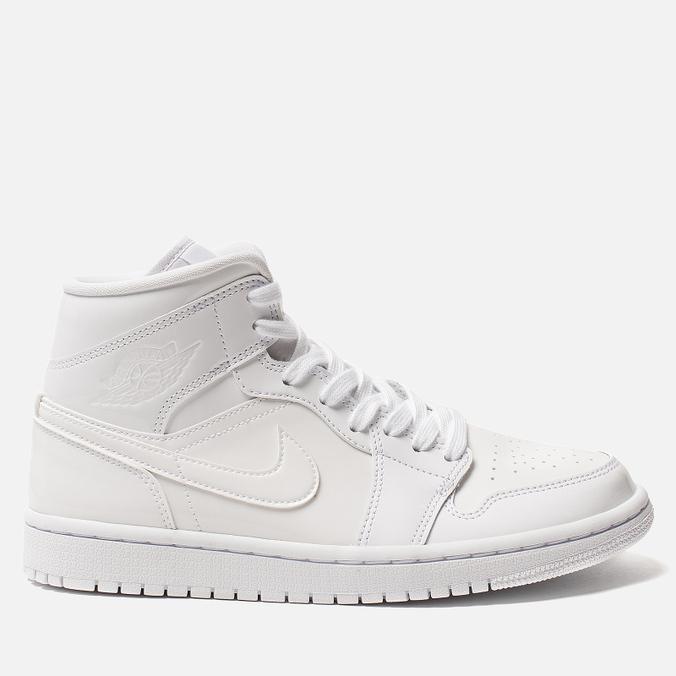 Женские кроссовки Jordan Air Jordan 1 Mid White/White/White