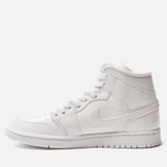 Женские кроссовки Jordan Air Jordan 1 Mid White/White/White фото- 1
