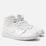Женские кроссовки Jordan Air Jordan 1 Mid White/White/White фото- 2