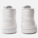 Женские кроссовки Jordan Air Jordan 1 Mid White/White/White фото- 3