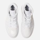 Женские кроссовки Jordan Air Jordan 1 Mid White/White/White фото- 5