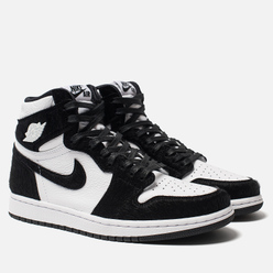 Женские кроссовки Jordan Air Jordan 1 Retro High OG Black/Black/Metallic Gold/White