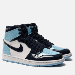Женские кроссовки Jordan Air Jordan 1 Retro High OG Obsidian/Blue Chill/White