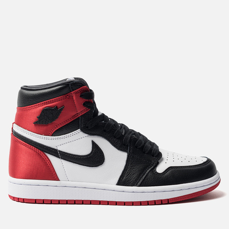 Женские кроссовки Jordan Air Jordan 1 Retro High OG Satin Black/Black/White/Varsity Red