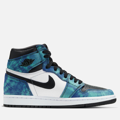 Женские кроссовки Jordan Air Jordan 1 Retro High OG Tie-Dye White/Black/Aurora Green