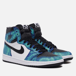 Кроссовки Jordan Wmns Air Jordan 1 Retro High OG Tie-Dye White/Black/Aurora Green