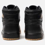 Женские кроссовки Jordan Air Jordan 1 Retro High Premium Black/Metallic Gold/Vachetta Tan фото- 3