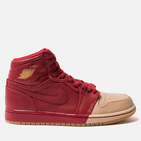 Женские кроссовки Jordan Air Jordan 1 Retro High Premium Gym Red/Metallic Gold/Vachetta Tan