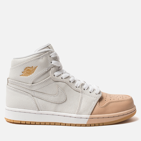 Женские кроссовки Jordan Air Jordan 1 Retro High Premium White/Metallic Gold/Vachetta Tan