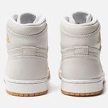 Женские кроссовки Jordan Air Jordan 1 Retro High Premium White/Metallic Gold/Vachetta Tan фото- 3