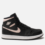 Женские кроссовки Jordan Air Jordan 1 Retro Premium Black/Silt Red/Rush Maroon/White фото- 0