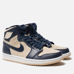 Женские кроссовки Jordan Air Jordan 1 Retro Premium Midnight Navy/Light Cream/White