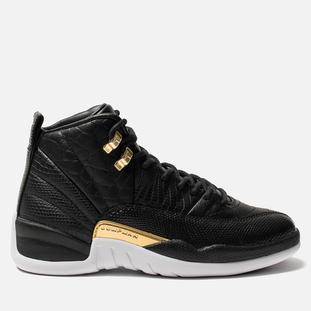 Женские кроссовки Jordan Air Jordan 12 Retro Black/Metallic Gold/White