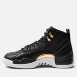 Женские кроссовки Jordan Air Jordan 12 Retro Black/Metallic Gold/White фото- 1