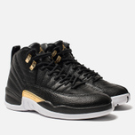 Женские кроссовки Jordan Air Jordan 12 Retro Black/Metallic Gold/White фото- 2
