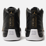 Женские кроссовки Jordan Air Jordan 12 Retro Black/Metallic Gold/White фото- 3