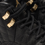 Женские кроссовки Jordan Air Jordan 12 Retro Black/Metallic Gold/White фото- 6