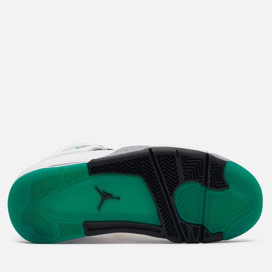 Женские кроссовки Jordan Air Jordan 4 Retro White/Black/University Red/Lucid Green