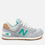 Женские кроссовки New Balance WL574BCB Beach Cruiser Pack Grey/Green фото- 0