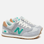 Женские кроссовки New Balance WL574BCB Beach Cruiser Pack Grey/Green фото- 1
